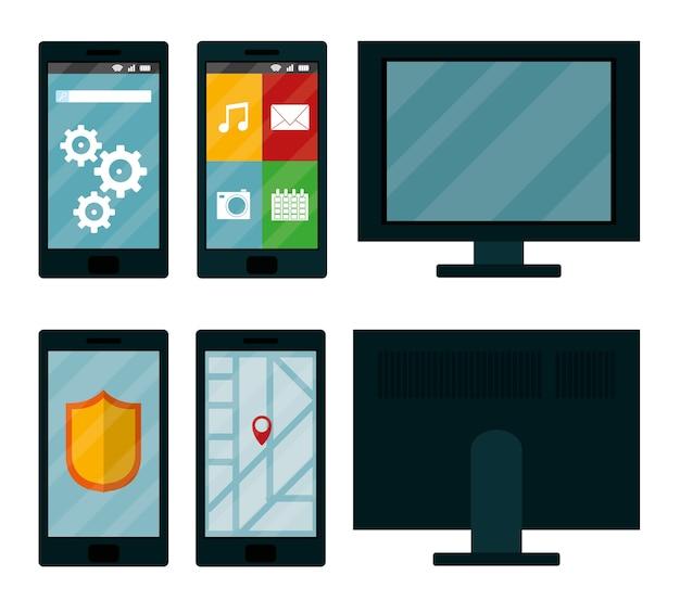 スマートフォン用のモバイルアプリとパソコン