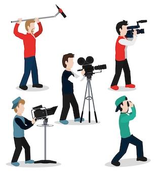 カメラマンのセット