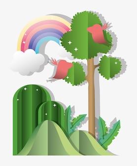Бумажный лес