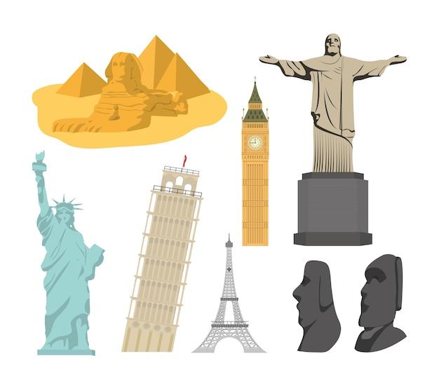 Набор мировых памятников