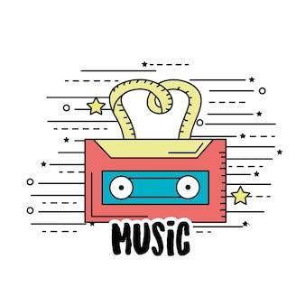音楽を聴き、演奏するカセット