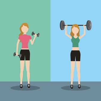 運動を行う女性の健康的なライフスタイル
