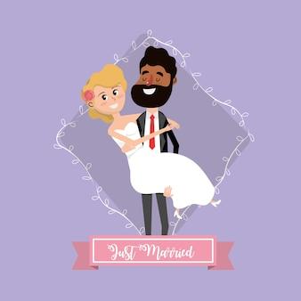 カップル、ブランチ、リボンデザインと結婚