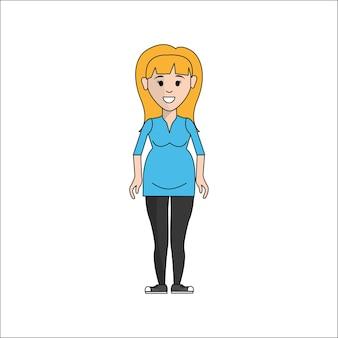 人、女性妊娠中のアバターアイコン