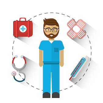 病院の医者のツールアイコン
