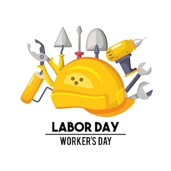 労働日の国のお祝いのシンボル