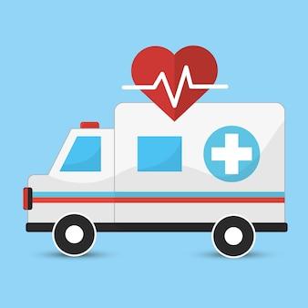 病院の緊急救急車のアイコン