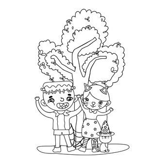 猫と木の少年少女の衣装の概要