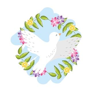 世界的なハーモニー要素への平和な鳩