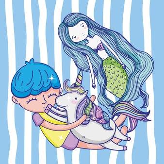 かわいい人魚の漫画