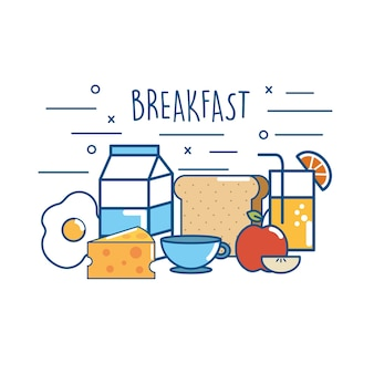 おいしい朝食食品栄養タンパク質