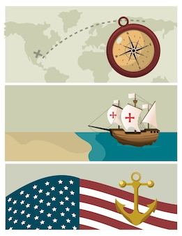 コロンブスの日の漫画