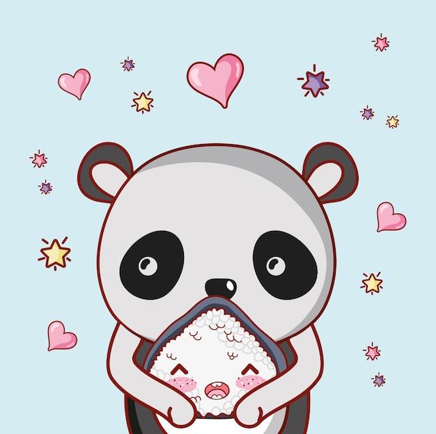 Суши и панда каваи