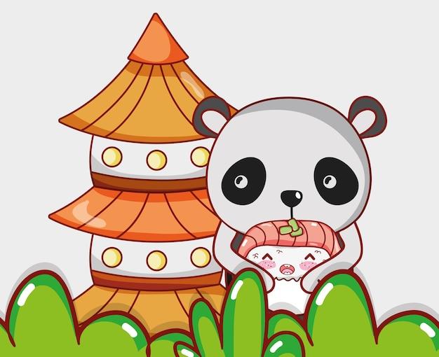 Панда и японская еда