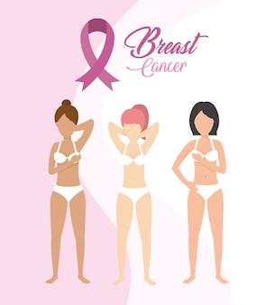 女性乳がん予防とリボン