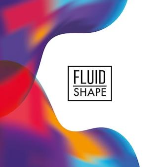 Абстрактная конструкция обложки флюидов