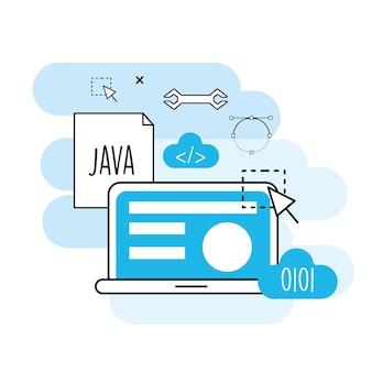 ウェブサイトのプロセス情報からプログラミング技術