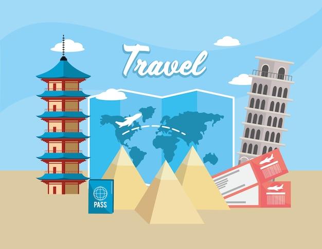 Китайская башня и падающая башня пизы