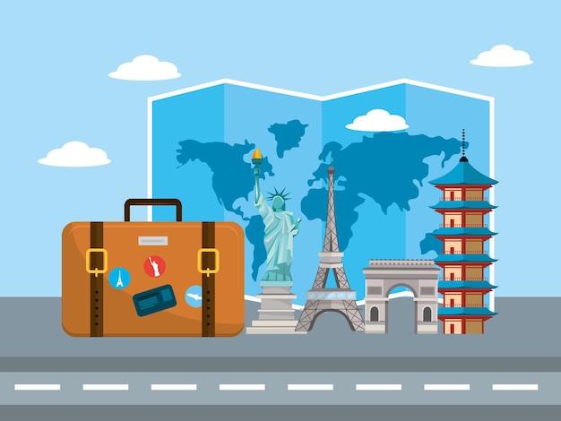 Туристический портфель с международным местом назначения