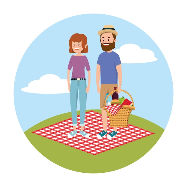女性と女性が楽しむピクニックレクリエーション