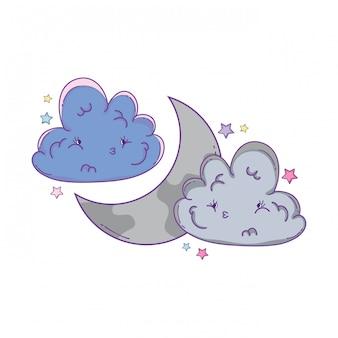 雲と月の漫画