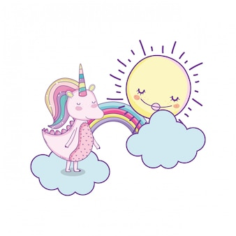 ユニコーン雲のかわいい漫画