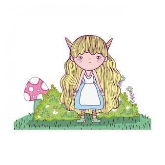 ユニコーンホーンキャラクターのかわいい小さな妖精