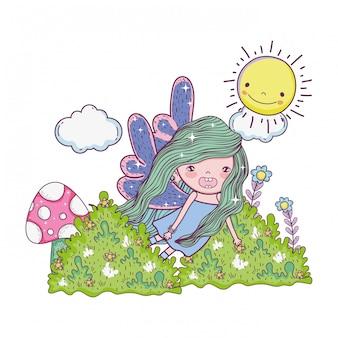 かわいい小さな妖精、バタフライウィングのキャラクター