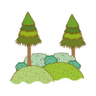 木の農村景観ラウンドアイコン