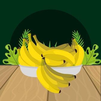 新鮮な果物バナナ漫画