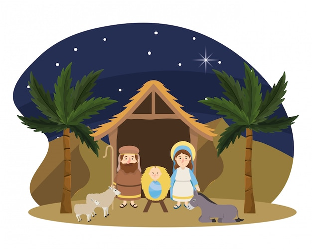 クリスマスの出生シーンの漫画