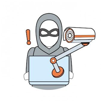 セキュリティシステムの漫画