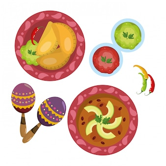 おいしいメキシコ料理の漫画