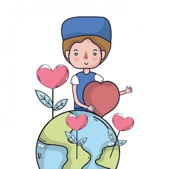 献血キャンペーンの漫画