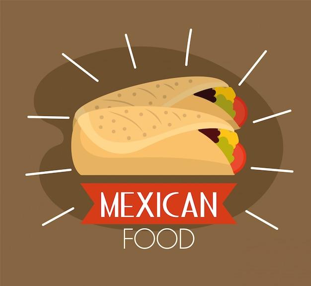 メキシコのスパイシーなタコス伝統的な食べ物