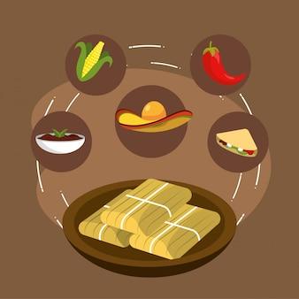 メキシコ料理、唐辛子とコブソース添え