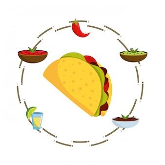 Вкусная мексиканская еда мультфильм