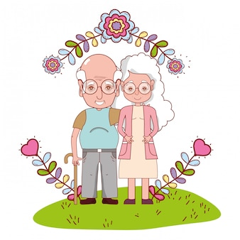 かわいい祖父母カップルの漫画