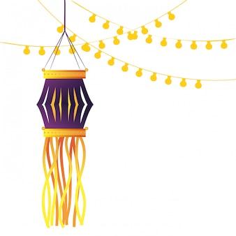インドの灯篭のキャンドルの装飾