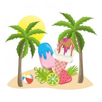 夏と熱帯の飲み物
