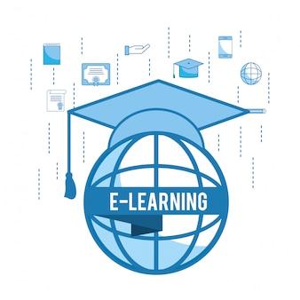 卒業キャップ付きグローバル教育研究