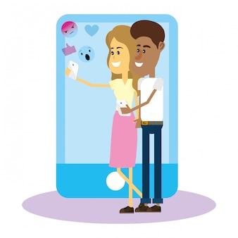 ソーシャルネットワーク上のカップル