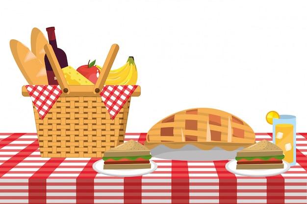 Мультфильм еда для пикника