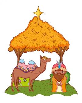 キリスト降誕のクリスマスの漫画