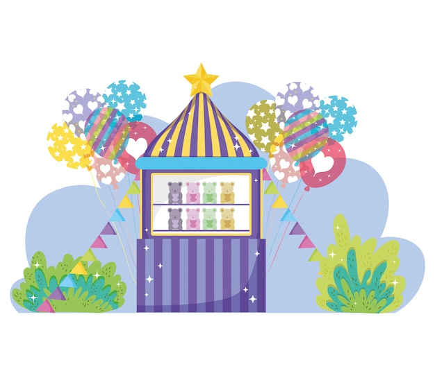 風船でサーカスのおもちゃ屋のエンターテイメント