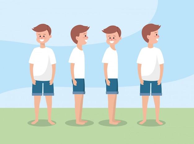 健康的なライフスタイルに男性のトレーニング運動を設定します