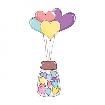 Партийные воздушные шары в форме сердца с каменщиком