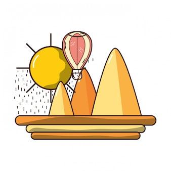 熱気球の飛行