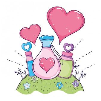 Любовная присыпка и бутылки