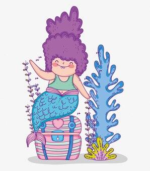 Русалка в сундуке и водорослях